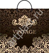 "Пакет с пласт.руч. 36х45 (110мк) в/д ""Винтаж коричневый"" /10/150"