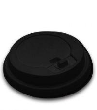 Крышка для стакана с закр.питейником D90мм черный 100/1000