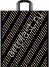 "Пакет с пет.руч. 38х45 (45мк) в/д ""Золотая полоса"" (50/500) (Арт)"