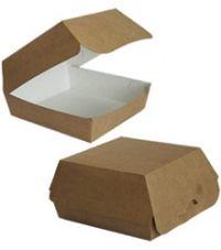 """Коробка для бургера """"FIESTA"""" ЭКО клееная,б/п 120*120*70 /200кор"""