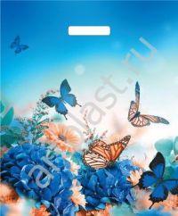 "Пакет с выруб.руч. 38х45 (45мк) в/д ""Бархатные бабочки"" (50/1000) (Арт)"