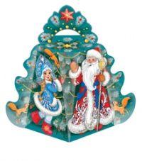 """Подарочная упаковка  800г из картона """"Дед Мороз""""/300"""