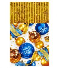 Пакет подар. 20*35см металл/рис. Подарки зимы 100/2000