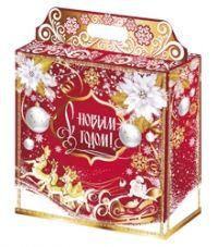 """Подарочная упаковка  4000г из МГкартона """"Золотая метель""""  /30"""