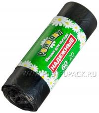 """Мешки для мусора """"РОМАШКА"""" 60л 20шт ПСД (ВЛ-061-20) /20 """"ПТ"""""""