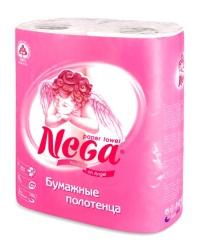 "Полотенца бумажные ""НЕГА"" 2-сл. белые 2рул/уп/12"