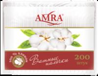 "Ватные палочки ""AMRA"" /пакет/ 200/уп./28"