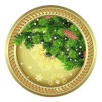 "Тарелка бумаж.230мм НГ ""Новогоднее СИЯНИЕ"" 6/уп.  Fiesta"