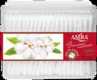 """Ватные палочки """"AMRA"""" /прямоуг./ 200/уп./24"""