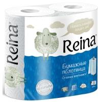 """Полотенца бумажные """"Reina"""" 2-сл. белые 2рул/уп/12"""