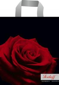 """Пакет с пет.руч. 30х34 (90мк) в/д """"Роза"""" премиум (50/700)"""