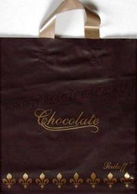 "Пакет с пет.руч. 30х34 (90мк) в/д ""Шоколад"" корич. (50/700)"