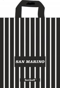 """Пакет с пет.руч. 30х34 (90мк) в/д """"Сан Марино"""" черный  (50/700)"""