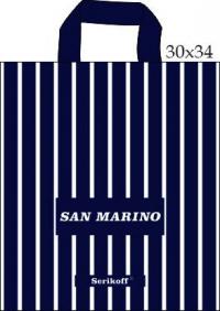 "Пакет с пет.руч. 30х34 (90мк) в/д ""Сан Марино"" синий  (50/700)"