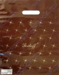 """Пакет с выруб. руч. 30х37 (90мк) в/д """"Луч"""" коричневый 50/1000"""