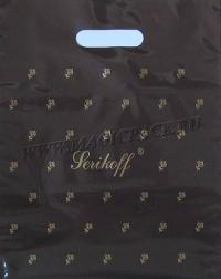 """Пакет с выруб. руч. 30х37 (90мк) в/д """"Подарочный"""" коричневый 50/1000"""