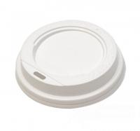 Крышка для стакана с откр. питейником D73мм белая 100/1000