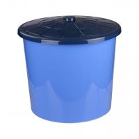 Бак с крышкой  75л синий универсальный 5/уп. /М3466