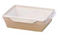 Упаковка (150*150*50) 900мл. картон. с прозр. крышкой ECO OpSalad/150