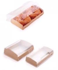 Упаковка (200*100*40) картон. с прозр. крышкой ECO OpBox/200