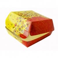 """Коробка для гамбургера """"Рог изобилия"""" 140*140*70  10/300кор"""