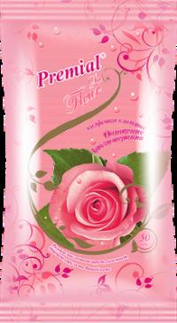 """Салфетки влажные """"Premial La Fleur"""" 50л/уп Роза /10 """"Бумфа"""""""
