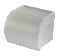 Держатель для т/бумаги с полочкой (серый) 12/уп. /М7625