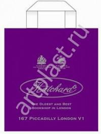 "Пакет с пет.руч. 30х33 (90мк) в/д ""Hatchard"" фиолет (50/500) (Арт)"