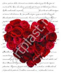 """Пакет с выруб.руч. 30х40 (40мк) в/д """"Сердце из роз"""" (50/1000) (Арт)"""