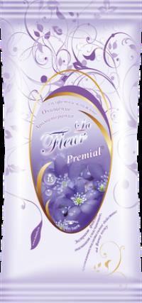 """Салфетки влажные """"Premial La Fleur"""" 15л/уп Фиалка  /48 """"Бумфа"""""""