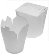 Контейнер бумажный под лапшу 500мл.белый /480