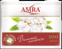 "Ватные палочки ""AMRA"" /пакет/ 100/уп./52"