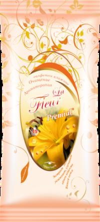 """Салфетки влажные """"Premial La Fleur"""" 15л/уп Лилия /48 """"Бумфа"""""""