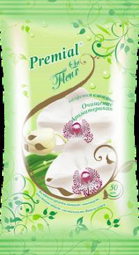 """Салфетки влажные """"Premial La Fleur"""" 50л/уп Орхидея /10 """"Бумфа"""""""
