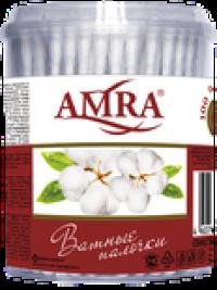 "Ватные палочки ""AMRA"" /цилиндр/ 100/уп./24"