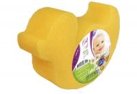 """Губка для тела детская (УТОЧКА желтая)   1шт. (150*100*40 ) ЭДИТ for baby """"АК"""""""