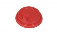 Крышка для стакана с закр.питейником D80мм красная 100/1000