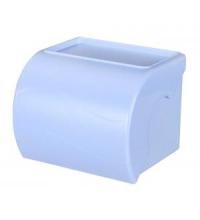 Держатель для т/бумаги с полочкой (голубой) 12/уп. /М6582