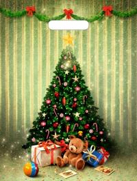 """Пакет с выр.руч. 31х40 (30мк) в/д """"Мишутка с подарками"""" (50/1300) (Тико)"""