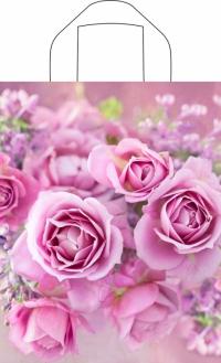 """Пакет с пет.руч. 28х35 (55мк) в/д """"Нежные розы"""" (50/700) (Тико)"""
