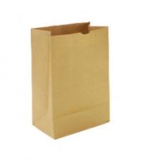 Пакет бумажный без ручек  8*5*23 Крафт /1500
