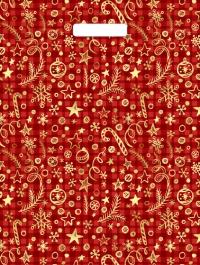 """Пакет с выр.руч. 31х40 (30мк) в/д """"Подарочный красный"""" (50/1300) (Тико)"""