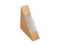 Упаковка 130*130*50 под сэндвич картон. с прозр. крышкой /300